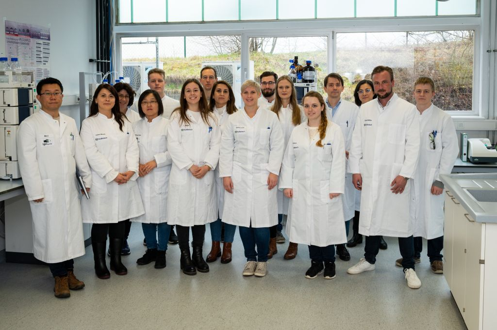 Picture of the laboratory team of MyBiotech GmbH